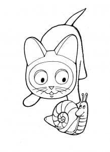 раскраска котенок по имени гав