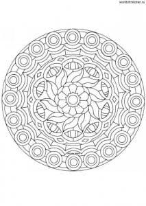raskraska-mandala-pechat-213x300 Мандалы на белом