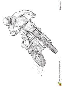 раскраска мотоцикл распечатать