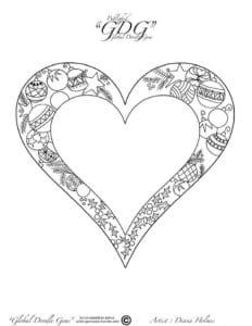 раскраска распечатать 14 февраля