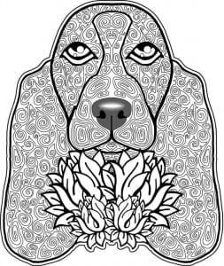 раскраска собака для детей