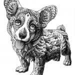 раскраска собака сложная (12)