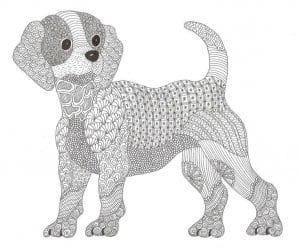 раскраска собака сложная (13)