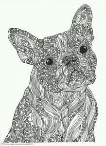 раскраска собака сложная (14)