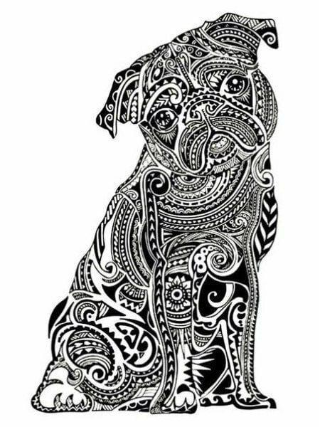 раскраска собака сложная (15)