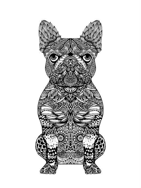 раскраска собака сложная (16)