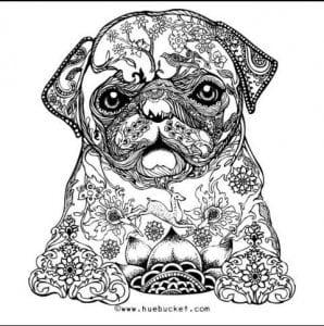раскраска собака сложная (6)