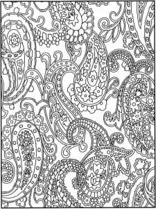 раскраски для девочек сложные узоры распечатать