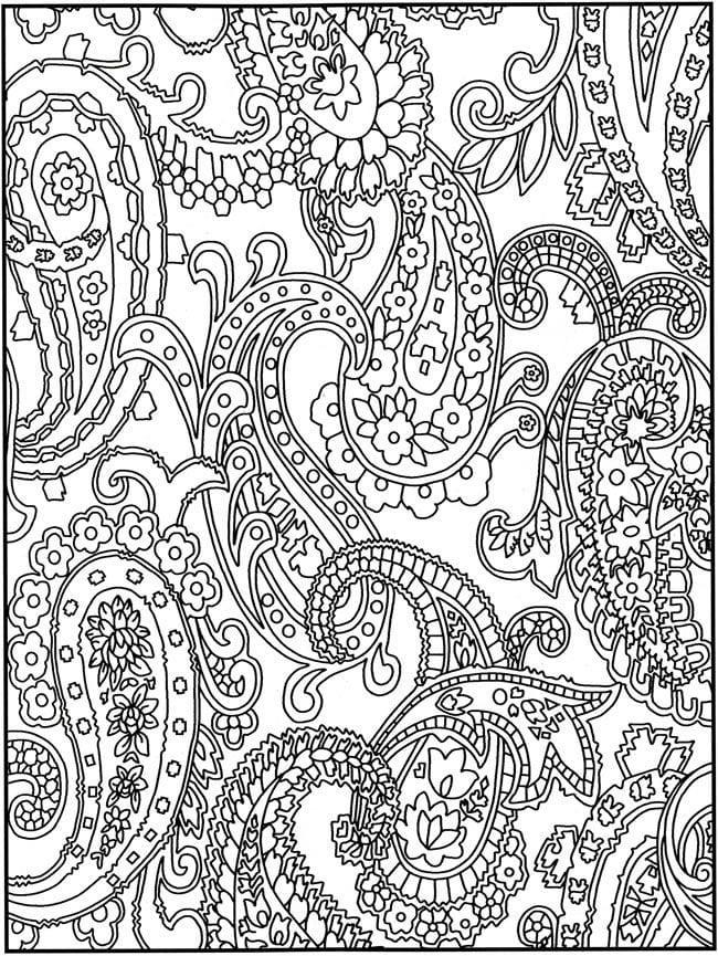 раскраски для девочек сложные узоры распечатать - Рисовака