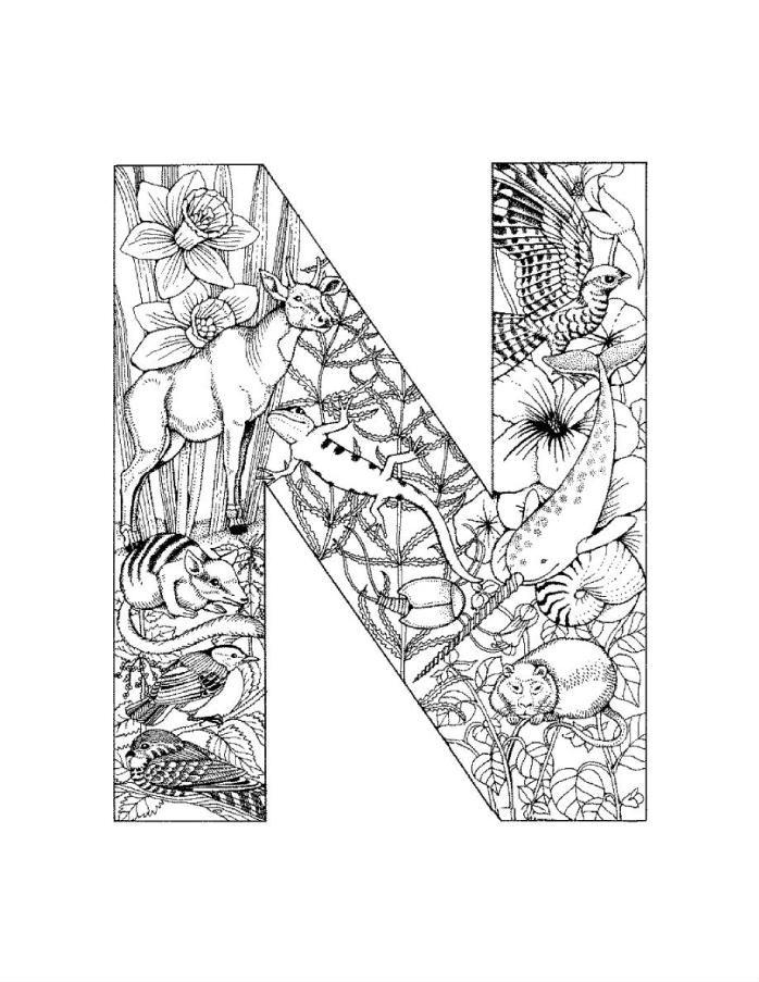 раскраски английский алфавит с картинками - Рисовака