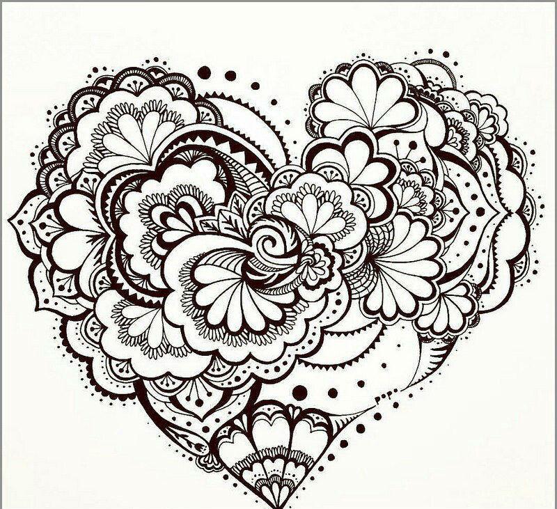 раскраски антистресс любовь - Рисовака