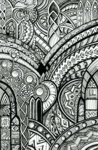 раскраски круги с узорами
