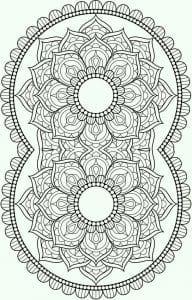 раскраски сложные и красивые узоры распечатать