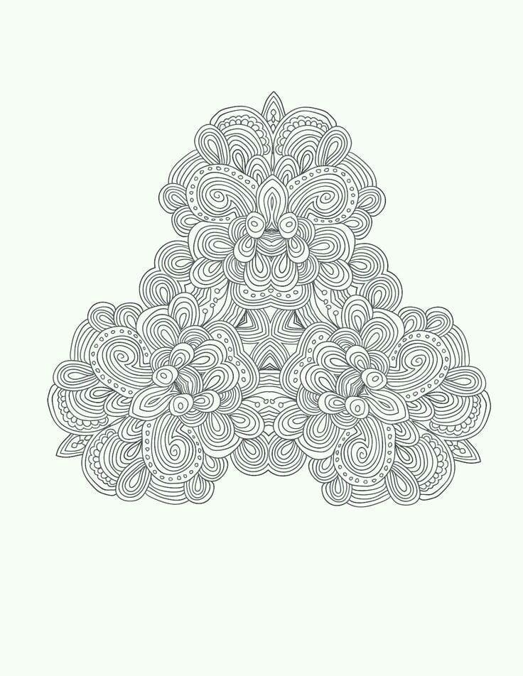раскраски сложные и красивые узоры - Рисовака