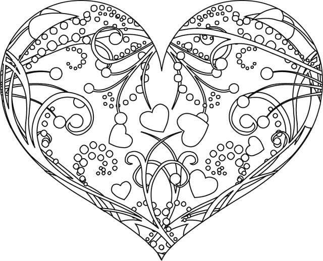 raskraski-den-vljublennyh раскраски день влюбленных бесплатно