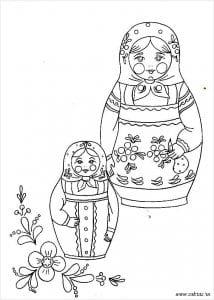 раскраски для детей распечатать матрешки