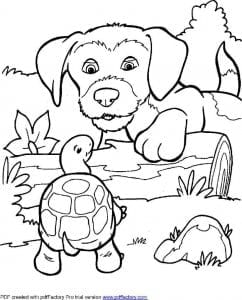 раскраски для детей собаки распечатать бесплатно