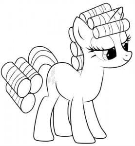 раскраски для девочек мои маленькие пони распечатать