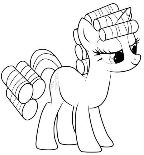 raskraski-dlja-devochek-moi-malenkie-poni раскраски для девочек мои маленькие пони распечатать