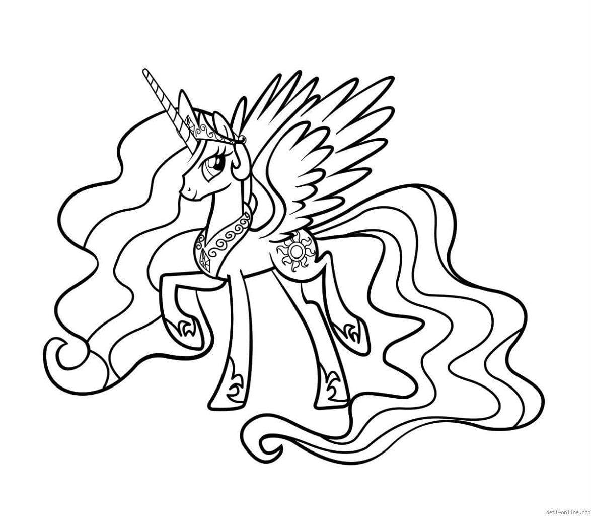 раскраски для девочек мой маленький пони
