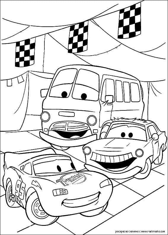 раскраски для мальчиков машины онлайн бесплатно тачки ...