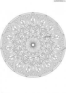 raskraski-mandala-besplatno-213x300 Мандалы на белом