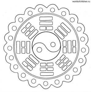 raskraski-mandaly-raspechatat-besplatno-format-a4-297x300 Мандалы на белом