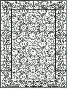 сложные и красивые узоры раскраски