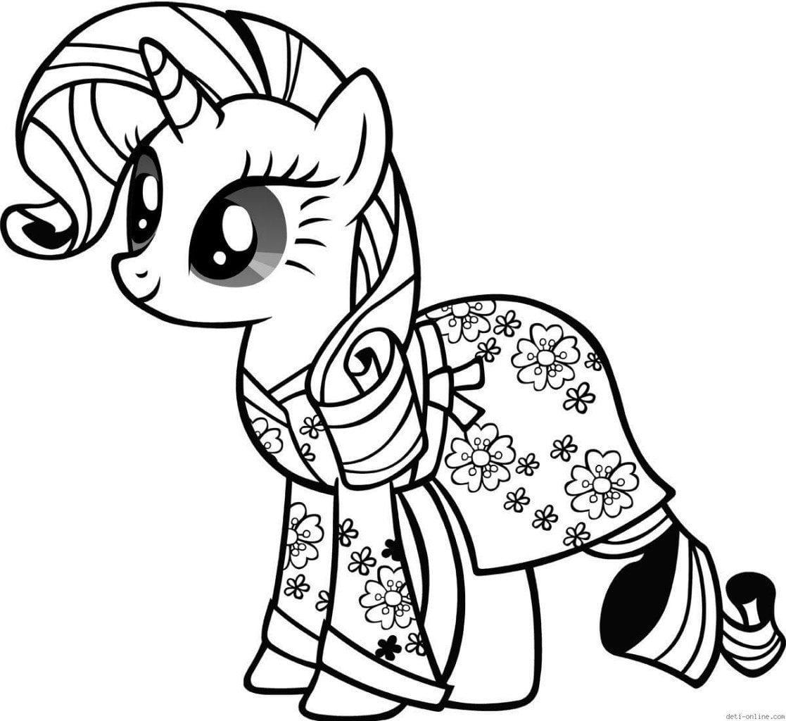 раскраски мой маленький пони большие - Рисовака