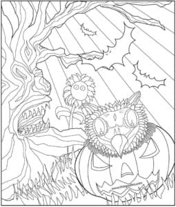 раскраски на хэллоуин печатать бесплатно