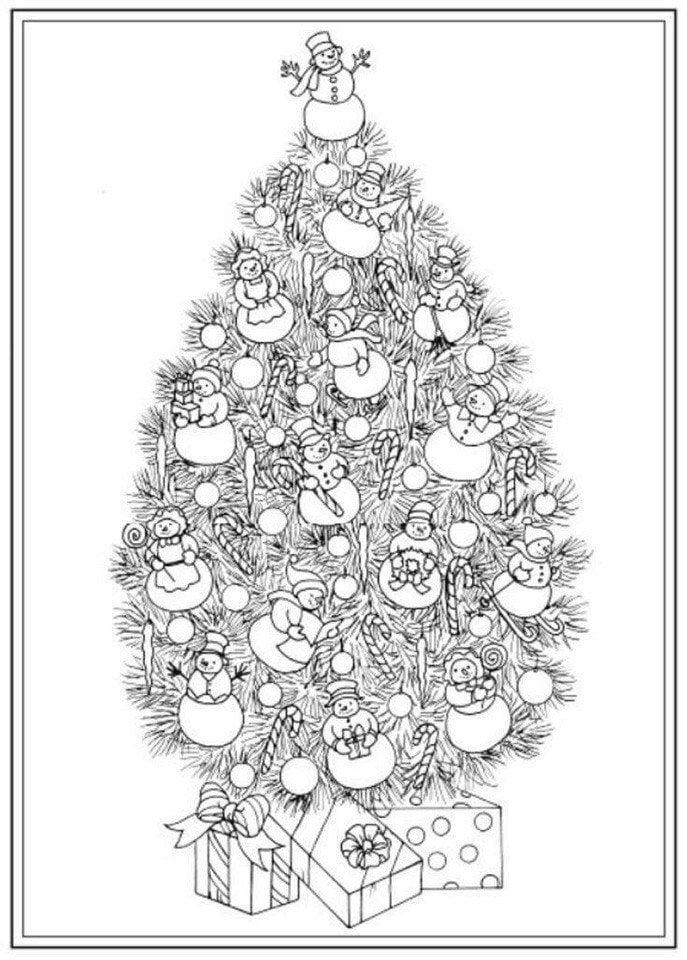 раскраски на новый год распечатать бесплатно
