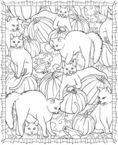 раскраски на тему хэллоуин распечатать