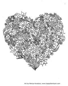 раскраски на валентин день распечатать бесплатно