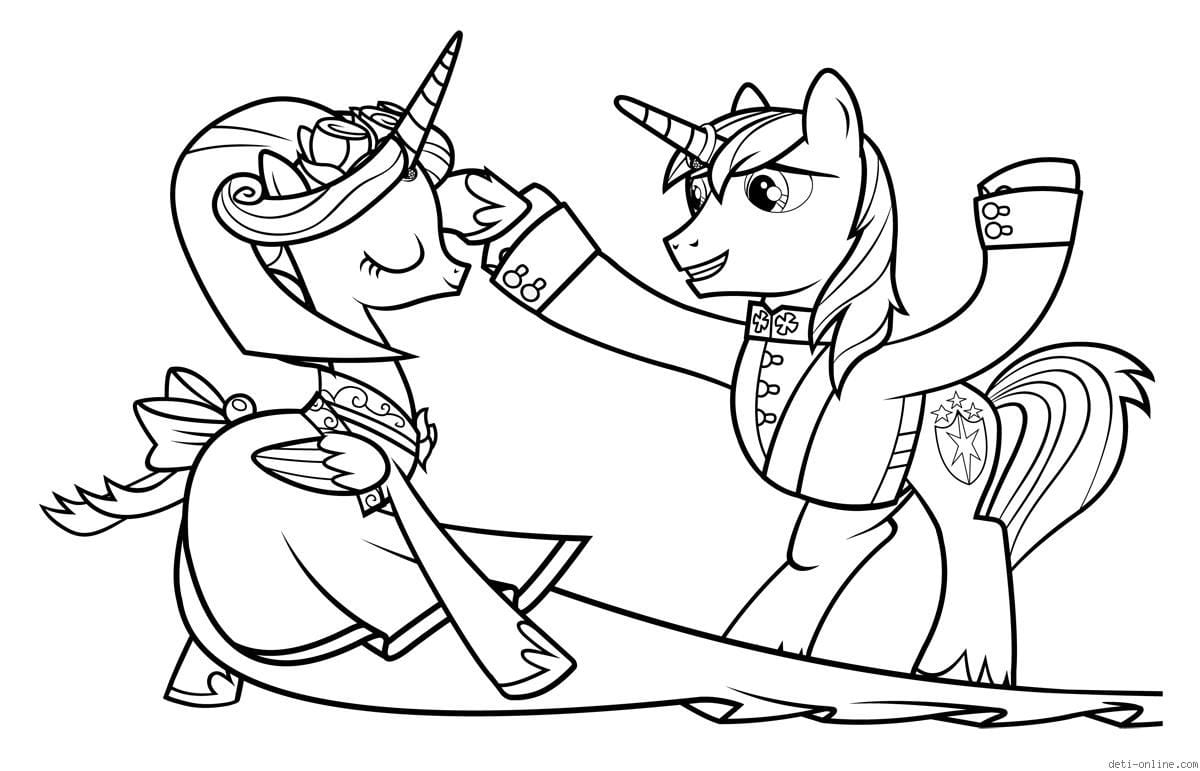 раскраски онлайн мой маленький пони - Рисовака