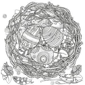 раскраски пасха яйца бесплатно распечатать красивая
