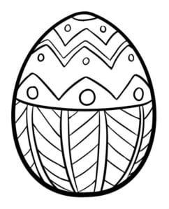 раскраски пасха яйца красивая