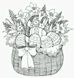 раскраски пасха яйца скачать распечатать красивая