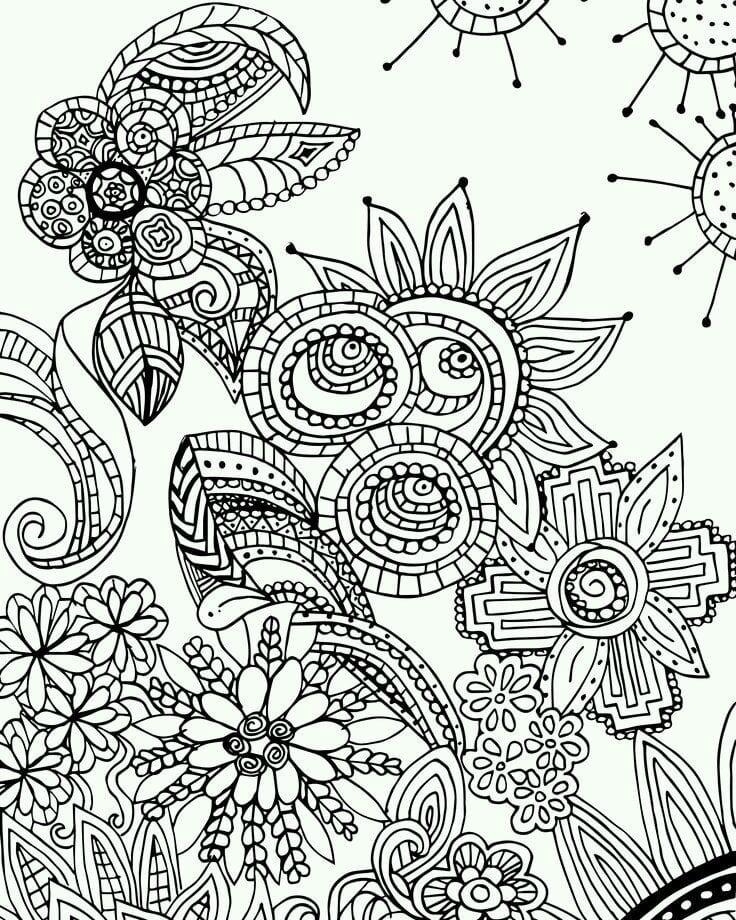 сложные узоры раскраски - Рисовака