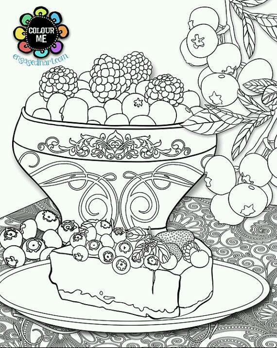 раскраски про еду распечатать