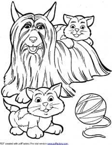 раскраски про собак и щенят