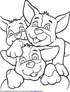 раскраски про собак распечатать