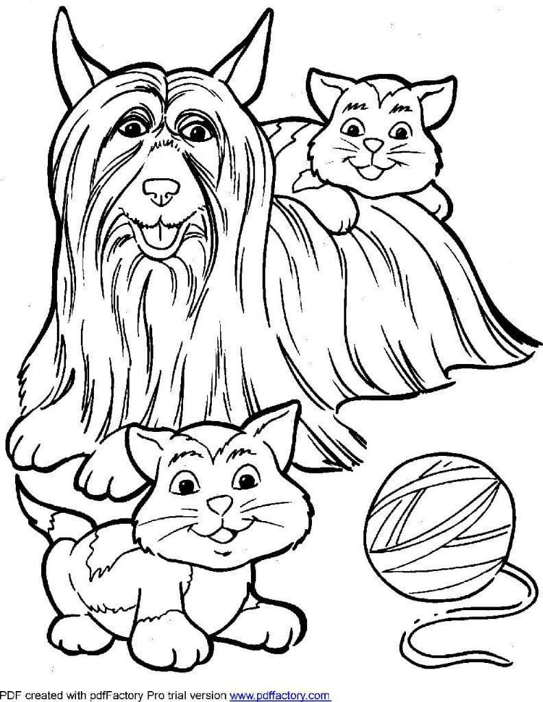 raskraski-pro-sobak раскраски про собак и щенят