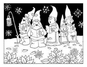 раскраски распечатать картинки на новый год