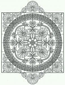сложные узоры распечатать раскраски