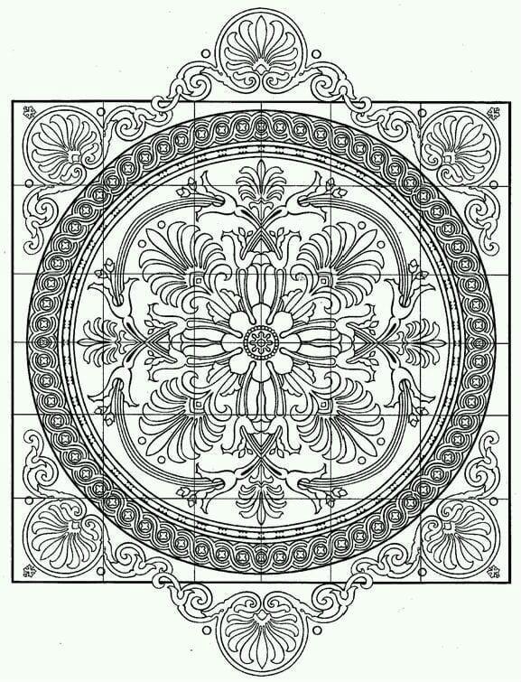 сложные узоры распечатать раскраски - Рисовака