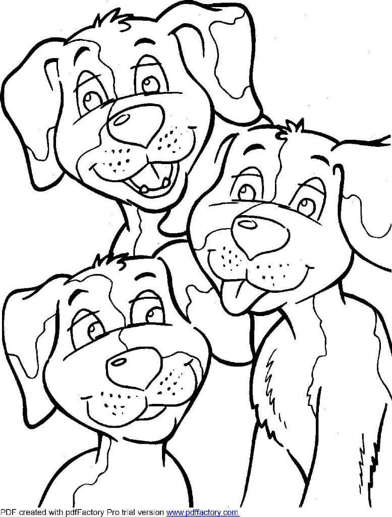раскраски собак печатать
