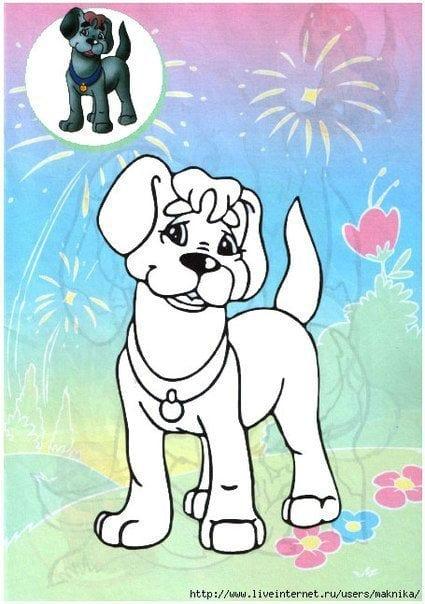 раскраски собаки детские