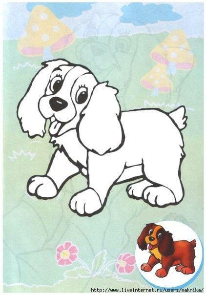 раскраски собаки и щенки картинки