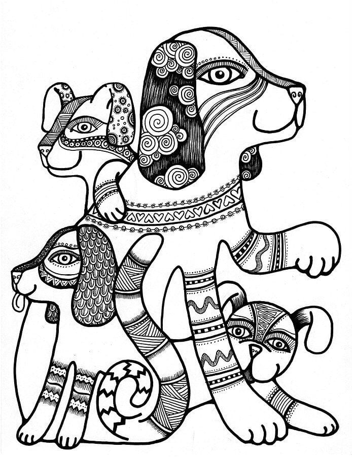 раскраски собаки породы картинки - Рисовака