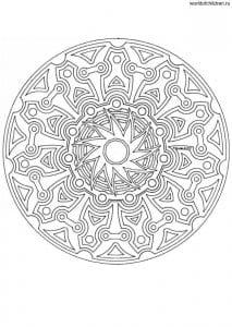 раскраски узоры мандалы